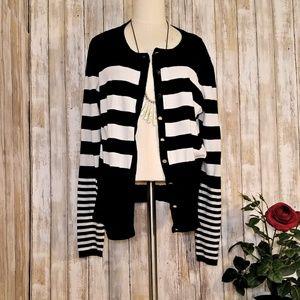 SALE 3 Grace Element black   striped cardigan XL